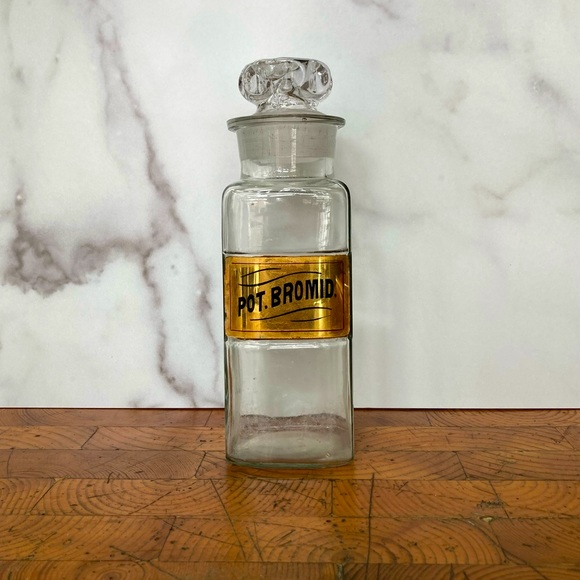 Authentic Vintage Glass Apothecary Bottle